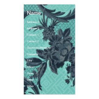 Vintage Wallpaper Floral Business Card Templates