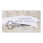 Vintage Wallpaper Scissors Hair Salon Business