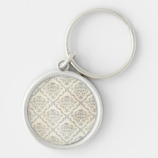 Vintage wallpaper Silver-Colored round key ring