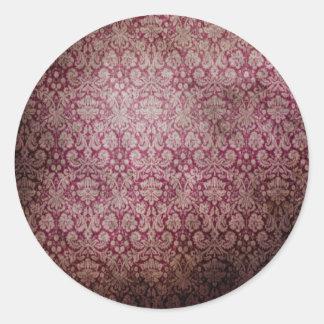 Vintage Wallpaper Texture Round Sticker