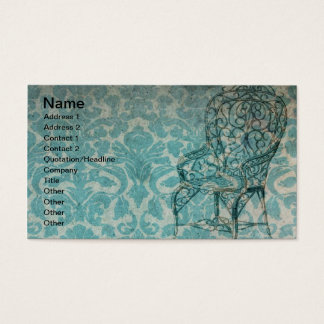Vintage Wallpaper With Chair Business Card