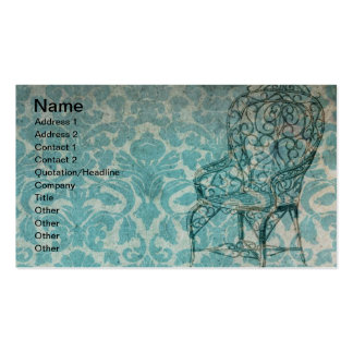 Vintage Wallpaper With Chair Pack Of Standard Business Cards