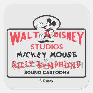 Vintage Walt Disney Studios Square Sticker