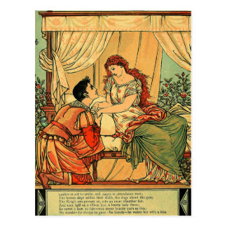 Vintage Walter Crane Sleeping Beauty  Fairy Tale Postcard