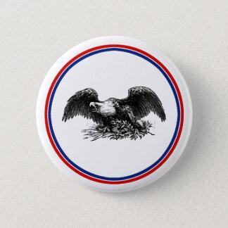 Vintage War Eagle 6 Cm Round Badge