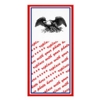 Vintage War Eagle Personalised Photo Card