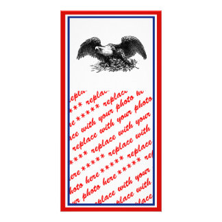 Vintage War Eagle Custom Photo Card