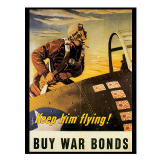 Vintage War Postcards, Keep him flying! Postcard