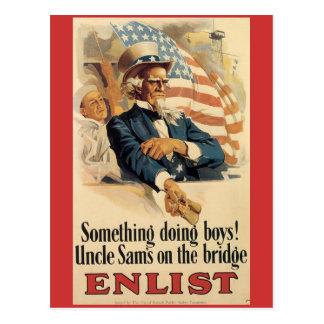 Vintage War Postcards, Vintage Uncle Sam Postcard