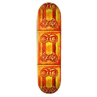 Vintage Waratah Book Binding with Chevron Pattern Skateboards