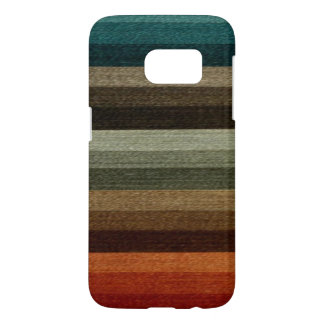Vintage Warm Autumn Striped Pattern, Earth Tones
