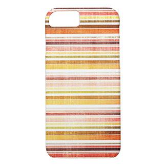Vintage Warm Autumn Stripes Pattern iPhone 7 Case