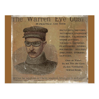 Vintage Warren Eye Guard Postcard