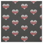 Vintage Washington D.C. Flag Hearts Fabric
