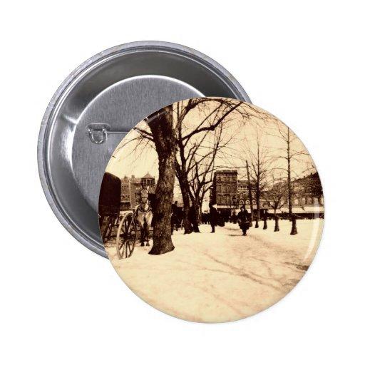 Vintage Washington DC In Snow Christmas Button
