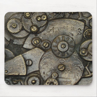 Vintage Watch Gear Mechanism Mouse Pad