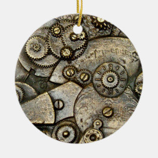 Vintage Watch Gear Mechanism Round Ornament