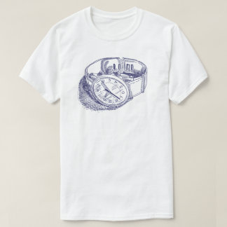 Vintage Watch Illustration Tshirt