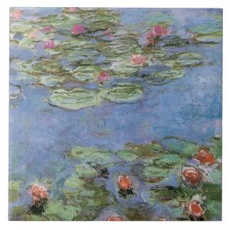 Vintage Water Lilies Ceramic Tile