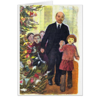 Vintage Watercolor Christmas with Lenin Card