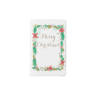 Vintage Watercolor Floral Holiday Planner Journal