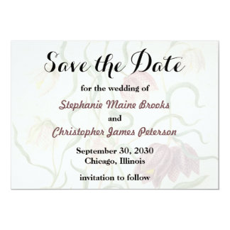 Vintage Watercolor Lily Save the Date Wedding 13 Cm X 18 Cm Invitation Card
