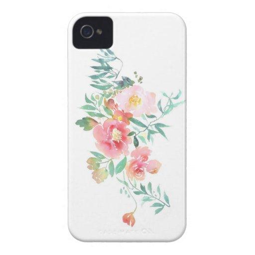 Vintage Watercolor Tech Case iPhone 4 Case-Mate Case