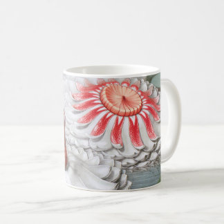 Vintage Waterlilies Flowers in a Garden Pond Coffee Mug
