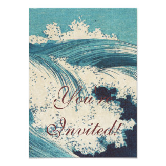Vintage Waves Japanese Woodcut Ocean Card