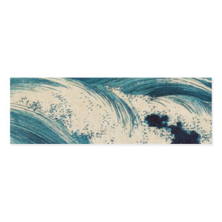 Vintage Waves Japanese Woodcut Ocean Pack Of Skinny Business Cards