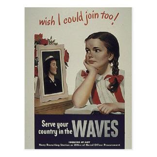 Vintage Waves Postcard