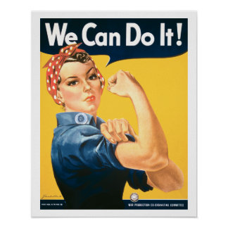 Vintage We Can Do It Rosie Poster