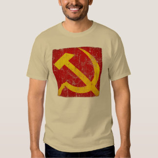 Vintage Weathered Soviet Hammer and Sickle T-Shirt