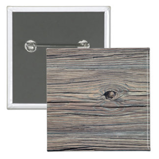 Vintage Weathered Wood Background - Old Board 15 Cm Square Badge