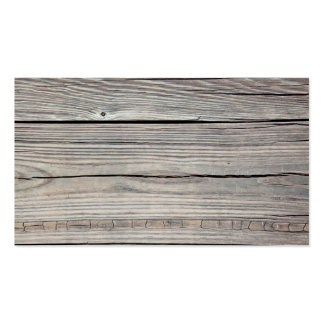Vintage Weathered Wood Background - Old Board Business Card Template
