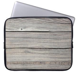 Vintage Weathered Wood Background - Old Board Computer Sleeves