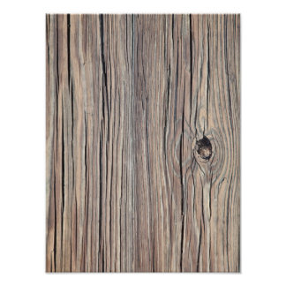 Vintage Weathered Wood Background - Old Wooden Photographic Print