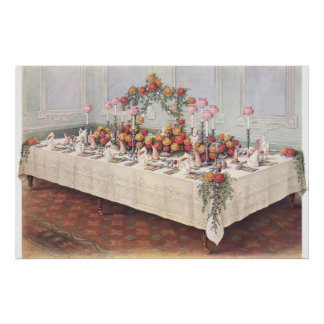 Vintage Wedding Banquet Table Print
