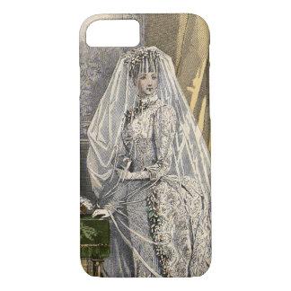 Vintage Wedding Bridal Portrait, Victorian Bride iPhone 7 Case