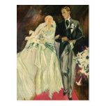 Vintage Wedding Bride Groom Newlywed Save the Date