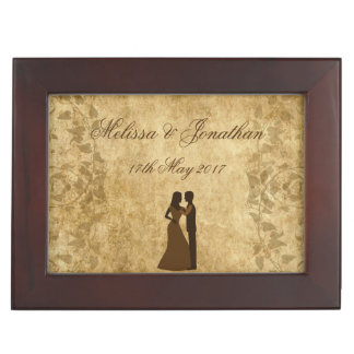 Vintage wedding Bride & Groom Once upon a time Memory Box