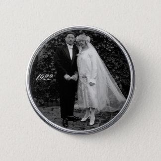 Vintage wedding button