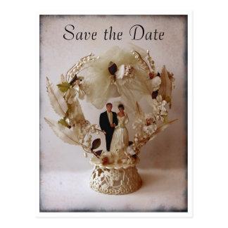 Vintage Wedding Cake Topper postcard