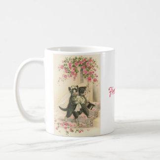 Vintage Wedding Cats - Flower Girl, Coffee Mug