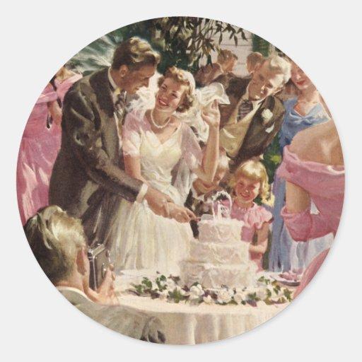 Vintage  Wedding Ceremony Sticker