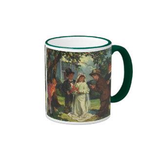Vintage Wedding, Children as Bride and Groom Ringer Mug