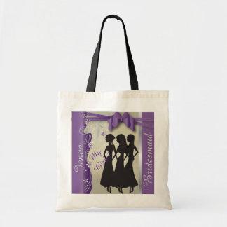 Vintage Wedding Classy Design   Amethyst Purple Tote Bag