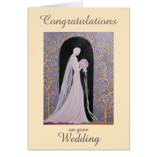 VINTAGE WEDDING, GREETING CARD