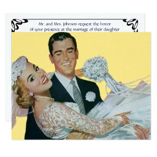 Vintage Wedding, Happy Newlyweds Invitation