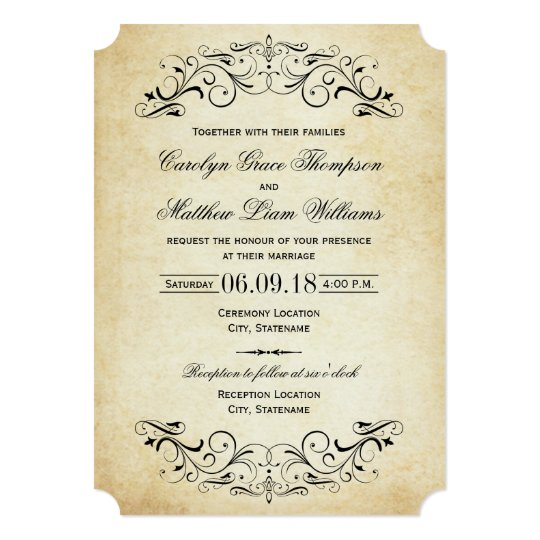 Vintage Wedding Invite: Vintage Wedding Invitations